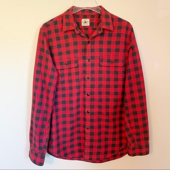 J. Crew Authentic Buffalo Plaid 100% Cotton Button Up Shirt